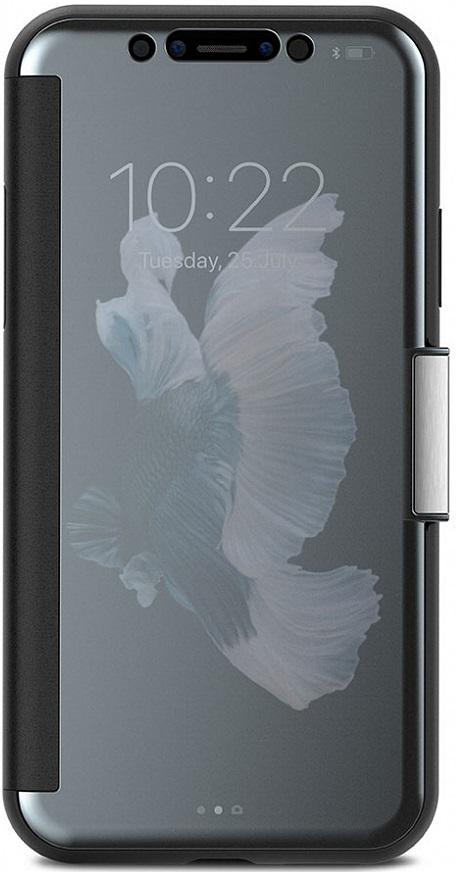 Чехол-книжка Moshi StealthCover для iPhone X (серый) фото