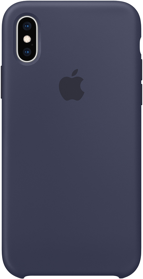 Клип-кейс Apple Silicone для iPhone XS Max (темно-синий) чехол клип кейс mercedes silicone line для apple iphone x xs темно синий [mehcpxsilna]