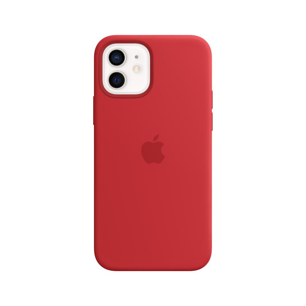 Клип-кейс Apple Silicone Case with MagSafe для iPhone 12 / 12 Pro ((PRODUCT)RED)(Silicone Case with MagSafe для iPhone 12 / 12 Pro ((PRODUCT)RED))