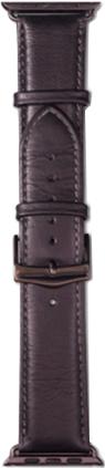 Ремешок DBramante1928 Copenhagen для Apple Watch 42 мм (черный, серый) ремешок для смарт часов aceshley ремешок для apple watch 38 мм металлический черный магнитный замок ac38mb черный