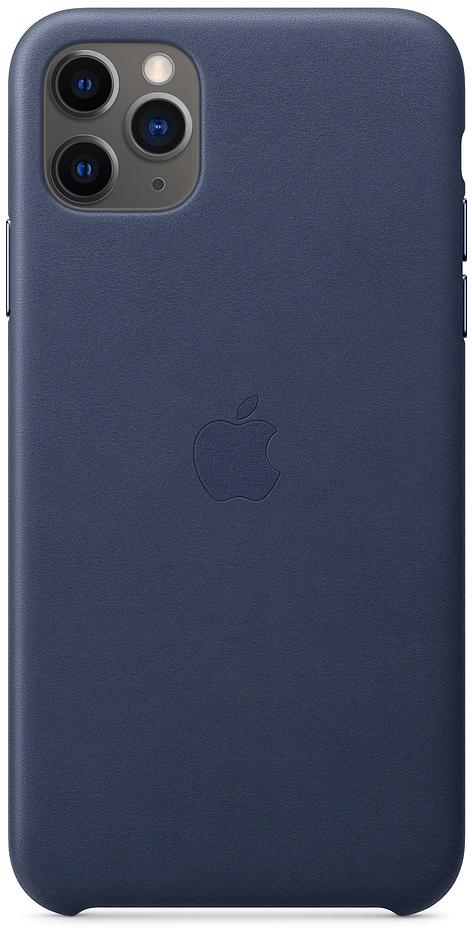 Клип-кейс Apple Leather для iPhone 11 Pro Max (темно-синий) фото