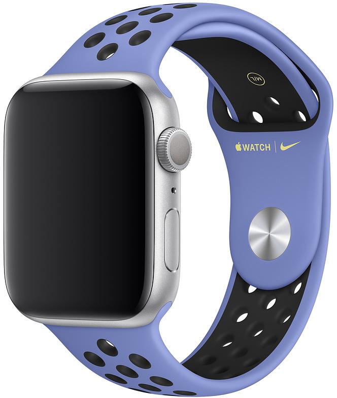 Ремешок Apple Nike Sport Band для Watch 44 мм размеры S/M и M/L (синяя пастель/черный) фото