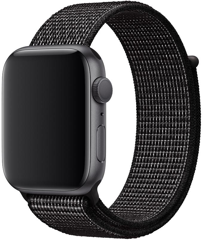 Ремешок Apple Sport Nike Nylon Band для Watch 44 мм (черный) фото
