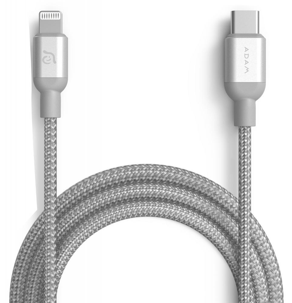 Кабель ADAM Elements USB-C - Lightning 1.2м (серебристый)