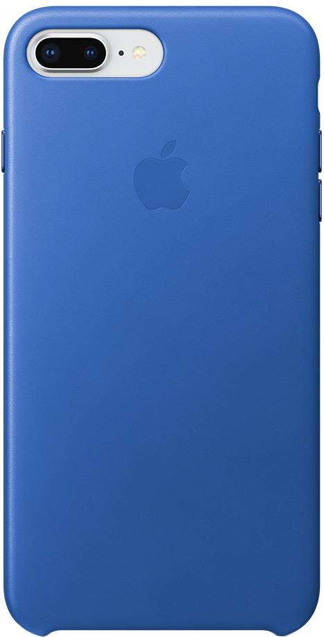 Клип-кейс Apple Leather Case для iPhone 8 Plus/7 Plus (синий электрик) фото