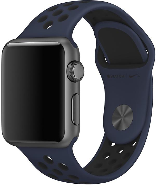 Ремешок Apple Nike для Apple Watch 38 мм (Обсидиан/черный) ремешок для смарт часов aceshley ремешок для apple watch 38 мм металлический черный магнитный замок ac38mb черный