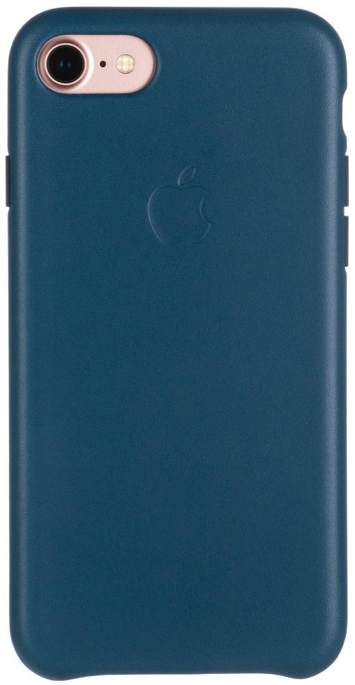 Клип-кейс Apple Leather Case для iPhone 7/8/SE 2020 (космический синий) фото