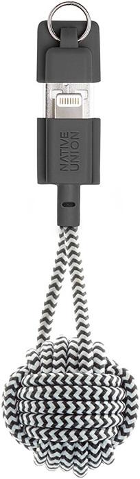 Кабель-брелок Native Union KEY USB- Apple Lightning (зебра)