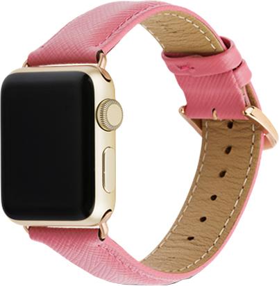 Ремешок DBramante1928 Madrid для Apple Watch 38 мм (розовый) ремешок для смарт часов aceshley ремешок для apple watch 38 мм металлический черный магнитный замок ac38mb черный