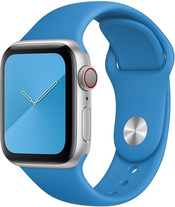 Ремешок Apple Sport Band для Watch 44 мм размеры S/M и M/L (синяя волна) фото