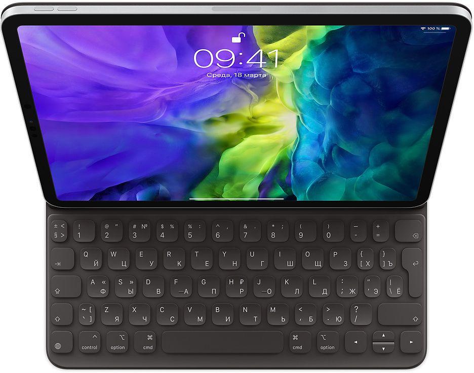 Чехол-клавиатура Apple Smart Keyboard Folio для iPad Pro 11 (2-го поколения) (черный) стилус apple pencil 2 го поколения