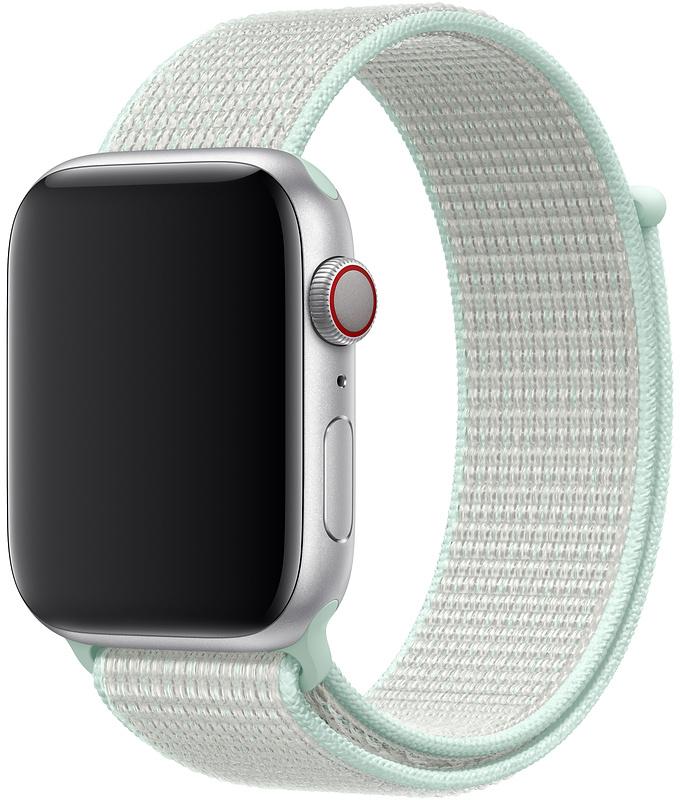 Ремешок Apple Sport Nike Nylon Band для Watch 44 мм (светлая бирюза) nike спортивный топ бра nike indy icon clash размер 42 44