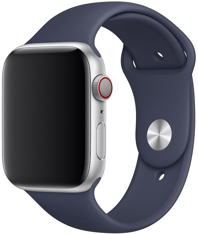 Ремешок Apple Sport Band для Watch 44 мм размеры S/M и M/L (темно-синий) фото