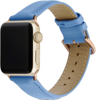 Ремешок DBramante1928 Madrid для Apple Watch 38 мм (синий) ремешок для смарт часов aceshley ремешок для apple watch 38 мм металлический черный магнитный замок ac38mb черный