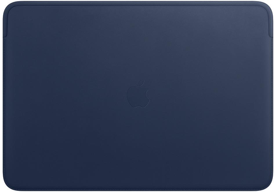 Чехол Apple Leather Sleeve для MacBook Pro 16 (темно-синий) apple leather sleeve для macbook pro 16 черный