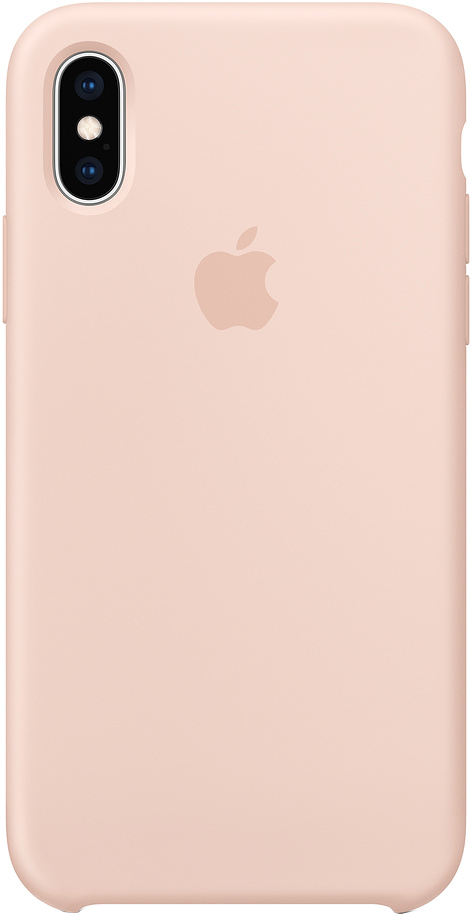 Клип-кейс Apple Silicone для iPhone XS Max (розовый песок) фото