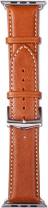 Ремешок DBramante1928 Copenhagen для Apple Watch 42 мм (серебристый, светло-коричневый) ремешок для смарт часов bikson stenless для apple watch 38 40 серебристый