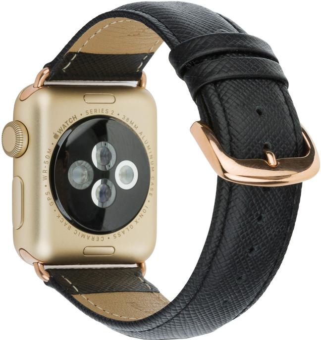 Ремешок DBramante1928 Mode Madrid для Apple Watch 38 мм (черный) ремешок для смарт часов aceshley ремешок для apple watch 38 мм металлический черный магнитный замок ac38mb черный