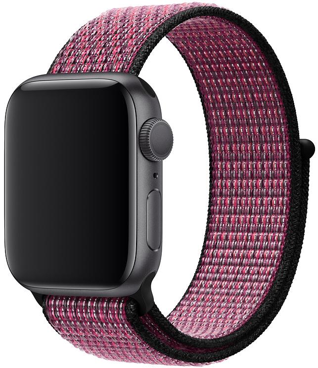 Ремешок Apple Sport Nike Nylon Band для Watch 40 мм (розовый всплеск/пурпурная ягода) фото