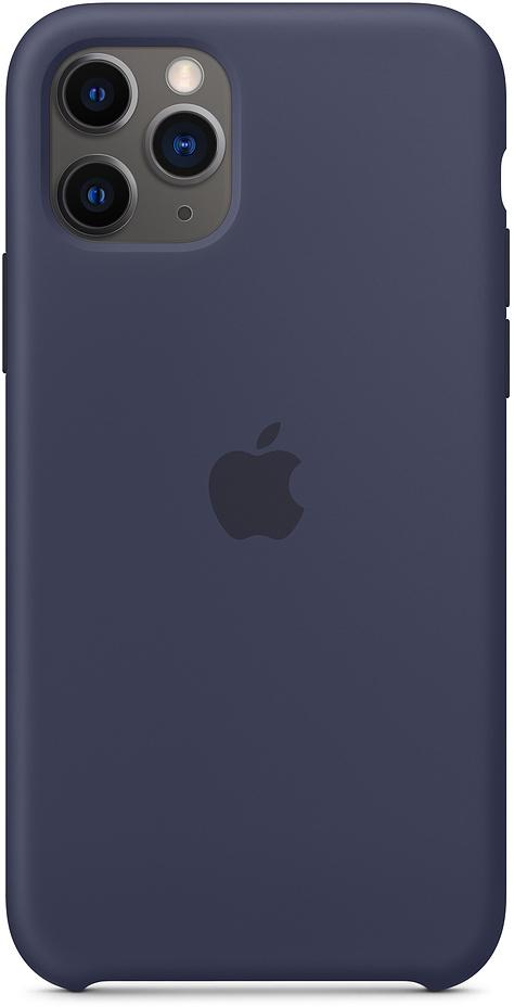 Клип-кейс Apple Silicone для iPhone 11 Pro (темно-синий) чехол клип кейс mercedes silicone line для apple iphone x xs темно синий [mehcpxsilna]