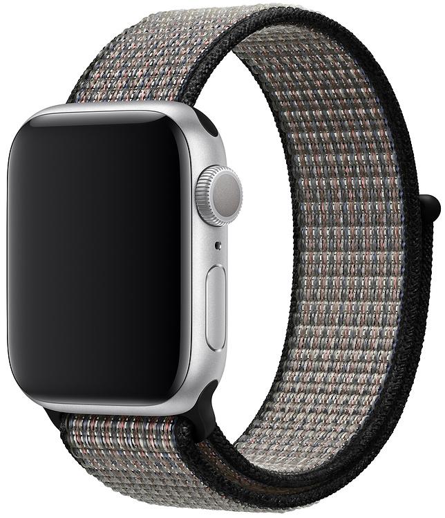 Ремешок Apple Sport Nike Nylon Band для Watch 40 мм (синяя пастель/раскалённая лава) фото