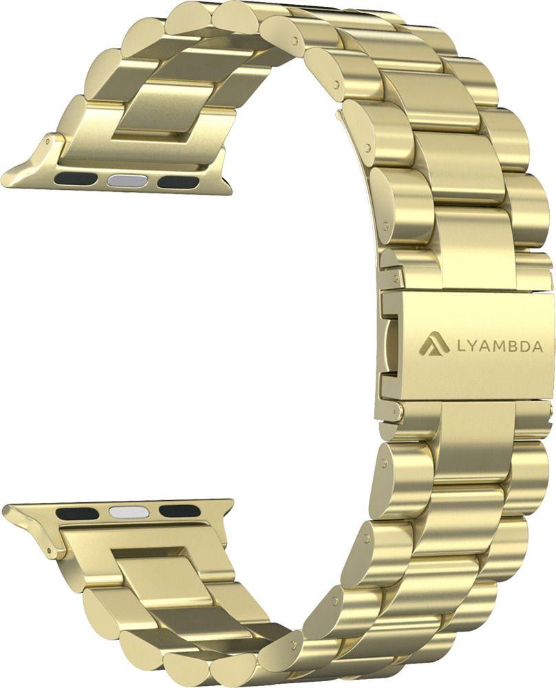 Ремешок Lyambda Keid для Apple Watch (DS-APG-02-40-GL) (золотистый) ремешок lyambda keid для apple watch ds apg 02 44 sl серебристый