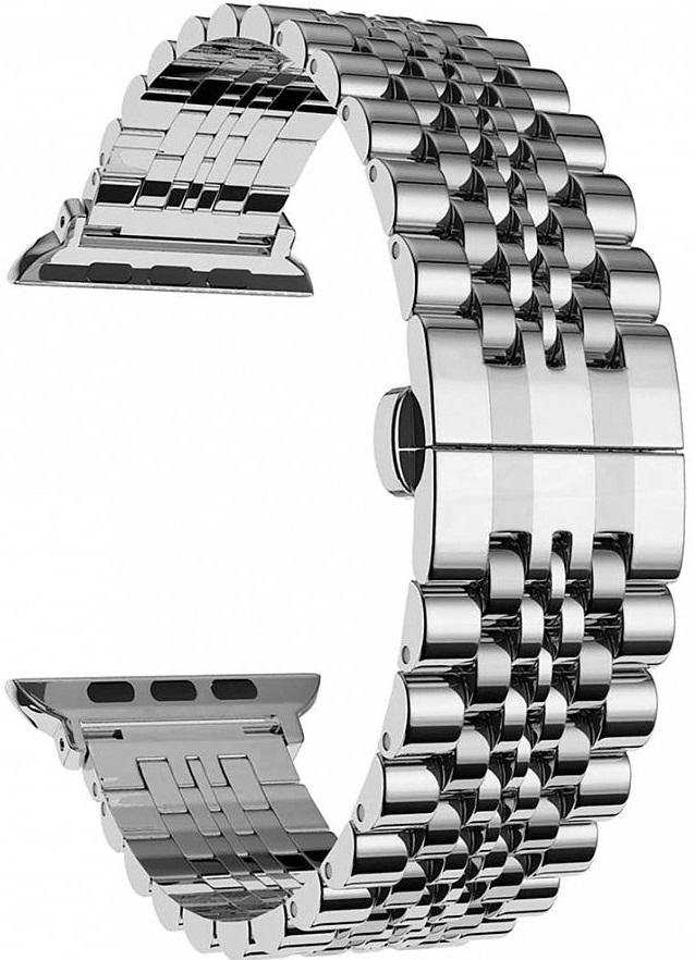 Ремешок Lyambda Castor для Apple Watch (DS-APG-04-44-SL) (серебристый) ремешок lyambda keid для apple watch ds apg 02 44 sl серебристый