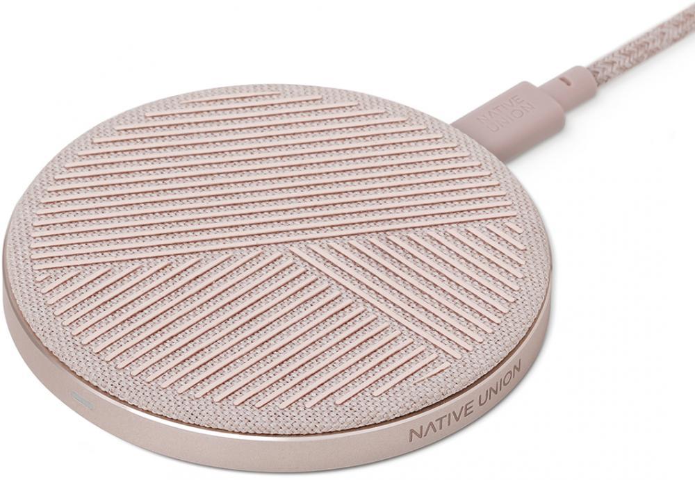 Беспроводное зарядное устройство Native Union DROP (розовый) фото