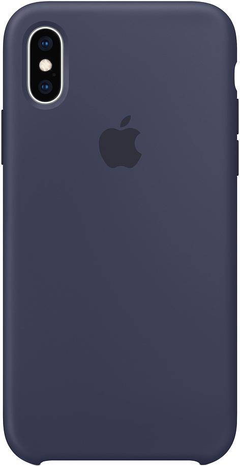 Клип-кейс Apple Silicone для iPhone XS (темно-синий) фото