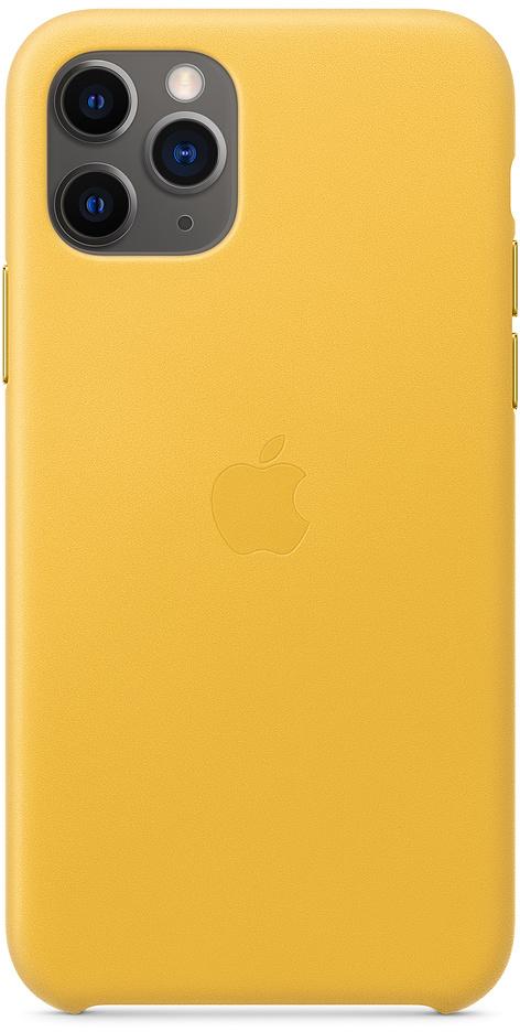 Клип-кейс Apple Leather для iPhone 11 Pro (лимонный сироп) фото