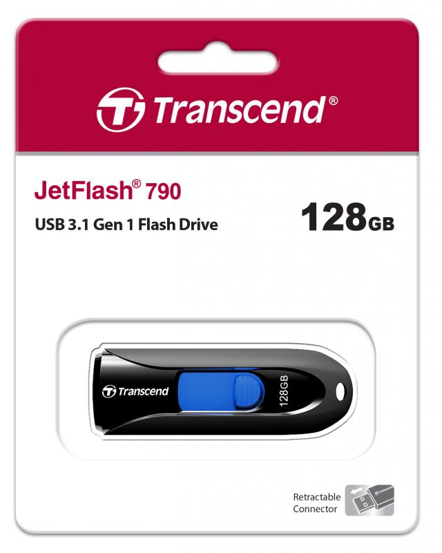 USB флешка Transcend JetFlash 790 128Gb (черный) фото