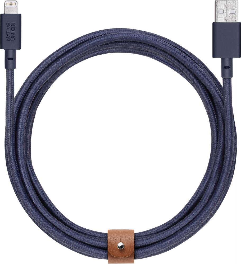 Кабель Native Union Belt USB - Apple Lightning (синий)