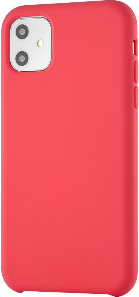 Клип-кейс uBear Siliconesoft touch дляApple iPhone 11 (красный) фото