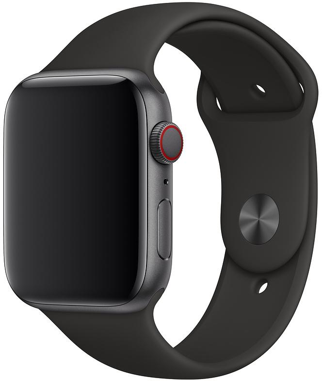 Ремешок Apple Sport Band для Watch 44 мм размеры M/L и L/XL (черный)