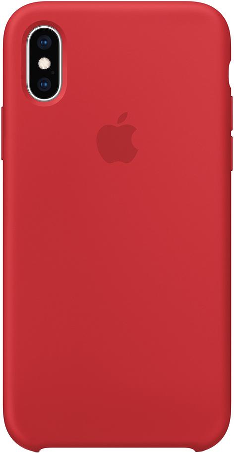 Клип-кейс Apple Silicone для iPhone XS (красный) фото
