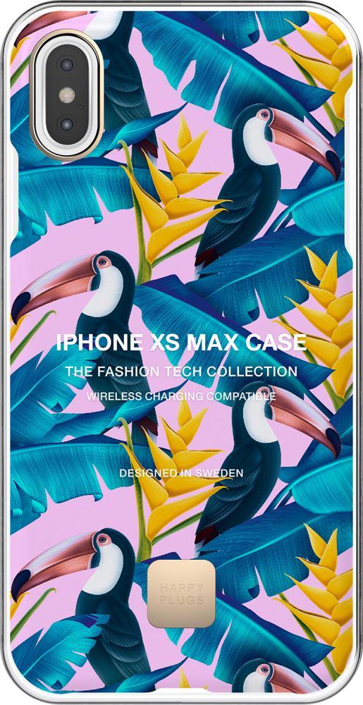 Фото - Клип-кейс Happy Plugs для Apple iPhone XS Max Toco Loco (цветной тукан) клип кейс happy plugs для apple iphone xs black marble черный мрамор