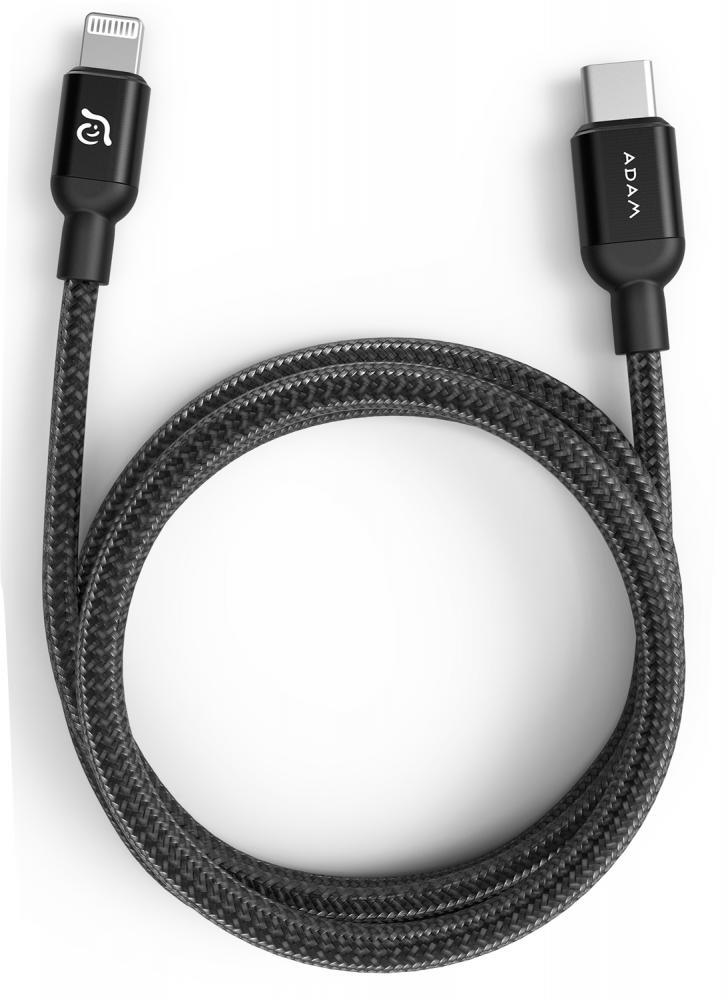 Кабель ADAM Elements USB-C - Lightning 2м (черный)