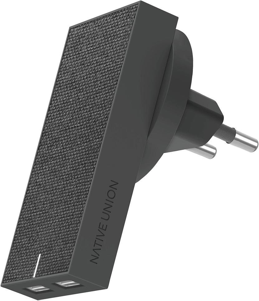Сетевое зарядное устройство Native Union Smart IC 2 USB 3.1A (серый) фото