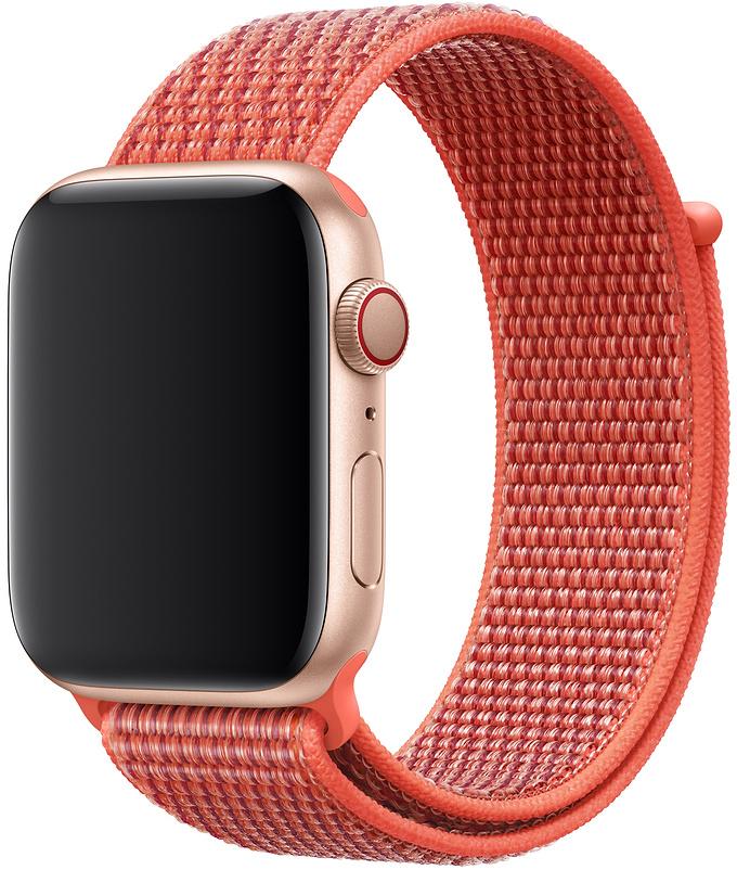 Ремешок Apple Sport Nylon Band для Watch 44 мм (спелый нектарин) фото