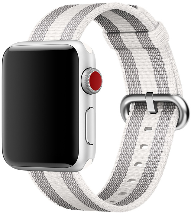 Ремешок Apple Nylon для Watch 38 мм (белый в полоску) фото