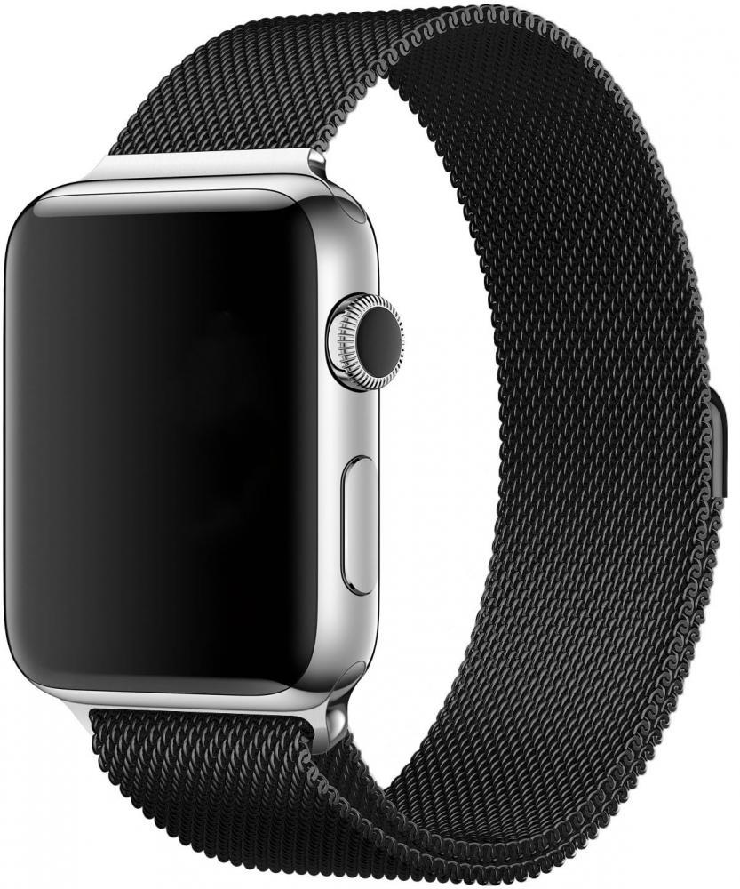Браслет Wolt для Apple Watch 42/44 мм 25 см стальной (черный)