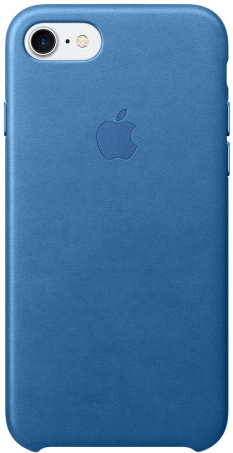 Клип-кейс Apple для iPhone 7/8 кожаный (синее море) фото
