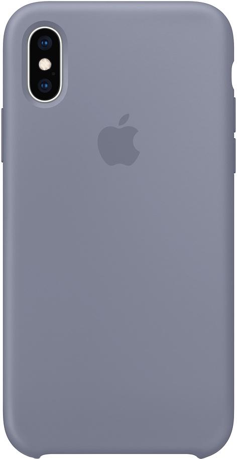 Клип-кейс Apple Silicone для iPhone XS Max (темная лаванда)