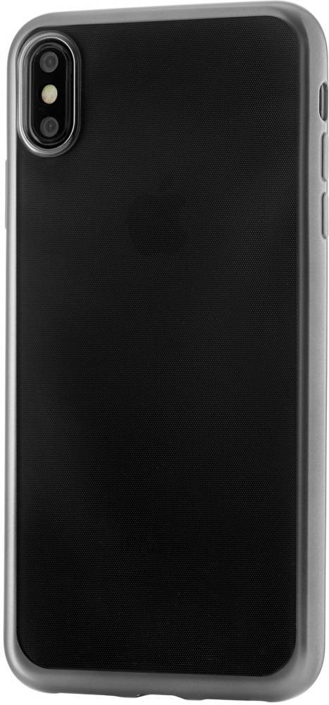 Клип-кейс uBear для Apple iPhone XS Max с рамкой (прозрачный черный) фото