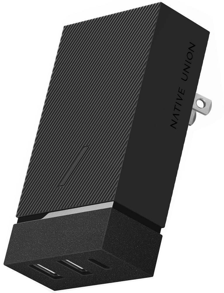 Фото - Сетевое зарядное устройство Native Union Smart Hub PD 45W (серый) адаптер сетевой native union smart charger pd 45вт серый