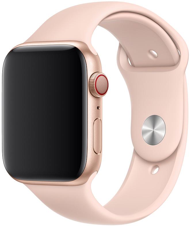 Ремешок Apple Sport Band для Watch 44 мм размеры S/M и M/L (розовый песок) фото