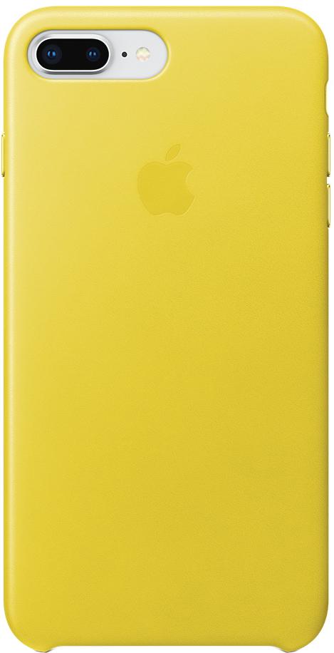 Клип-кейс Apple Leather Case для iPhone 8 Plus/7 Plus (желтая весна) фото