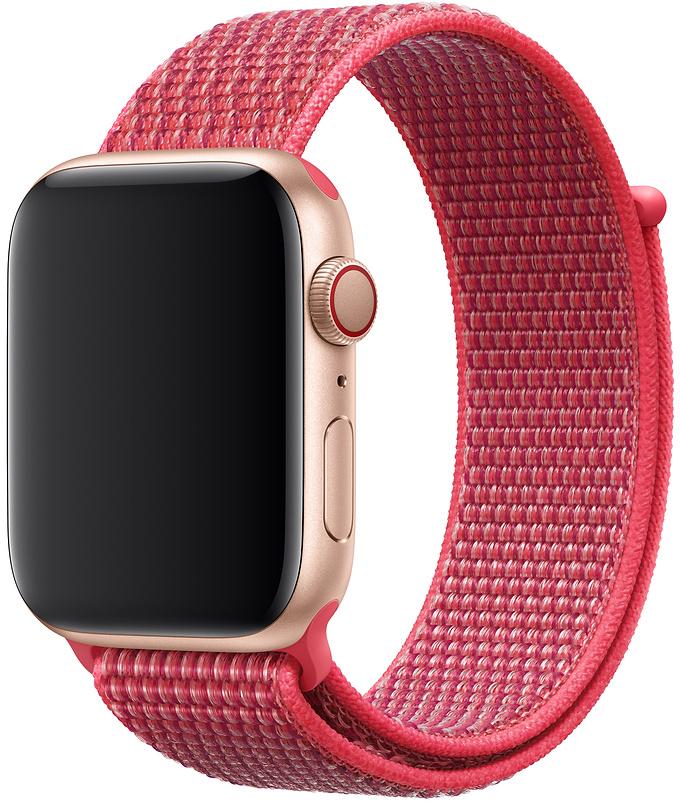 Ремешок Apple Sport Nylon Band для Watch 44 мм (красный каркаде) фото