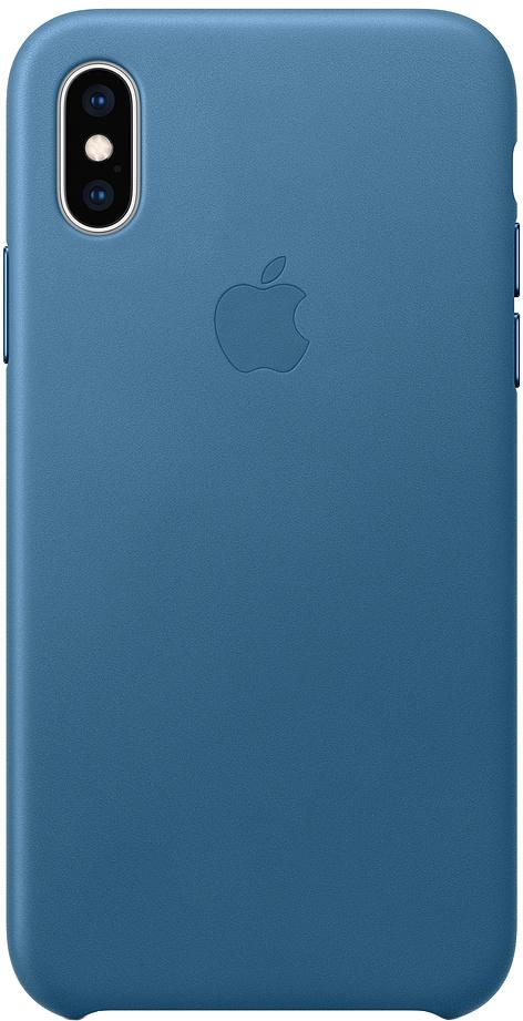 Клип-кейс Apple Leather для iPhone XS Max (лазурная волна) фото