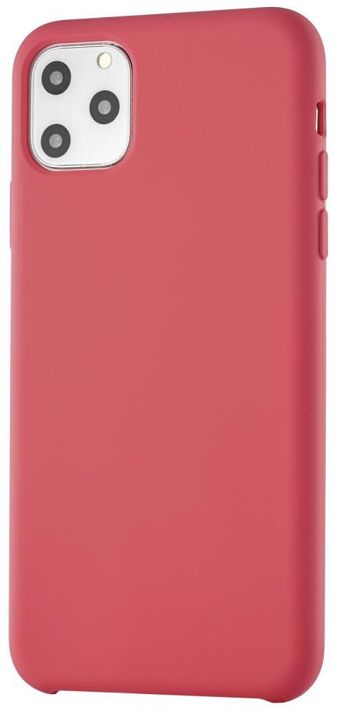 Клип-кейс uBear Siliconesoft touch дляApple iPhone 11 Pro Max (красный)(Siliconesoft touch дляApple iPhone 11 Pro Max (красный))